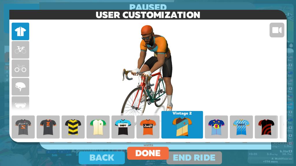 Running Avatar Customization