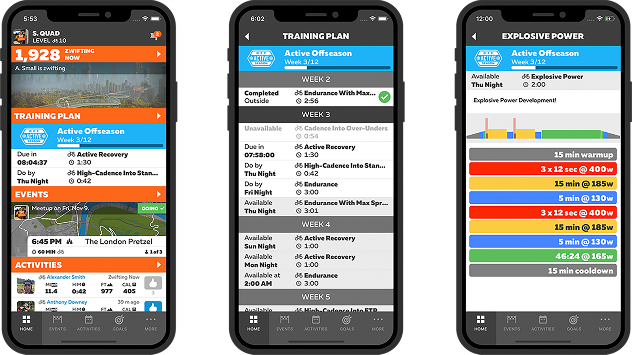 Zwift Companion 3.0 Application Release Full Training Plan View