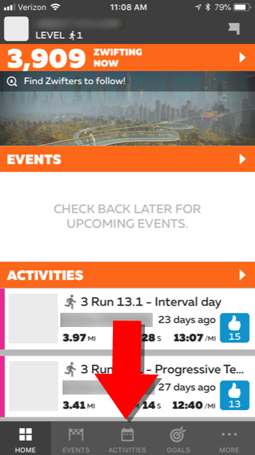Updating Your Running Activity Privacy Settings with Zwift Companion