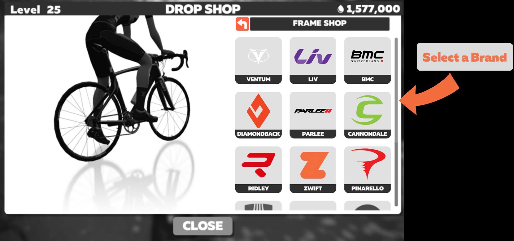 Zwift Virtual Store