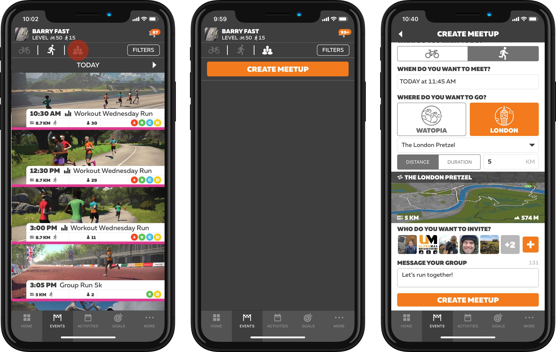 Zwift How-To: Using the Meetup Feature in Zwift Run | Zwift